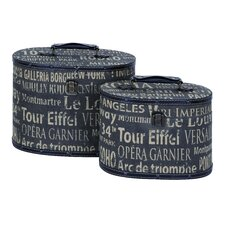 <strong>Woodland Imports</strong> European Landmarks Travel Luggage (Set of 2)