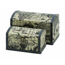 Ancient World Map 2 Piece Travel Chest