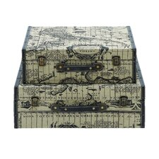 Ancient World Map Travel Luggage (Set of 2)
