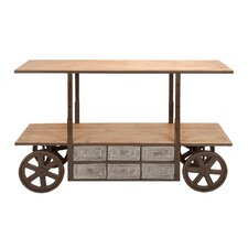<strong>Woodland Imports</strong> Reclaim Kitchen Cart