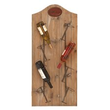 <strong>Woodland Imports</strong> 8 Bottle Wall Mounted Wine Rack