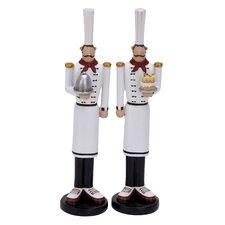 2 Piece Polystone Chef Decor Assorted Figurine Set