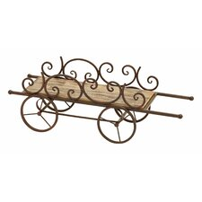 <strong>Woodland Imports</strong> Country Cart Planter Stand