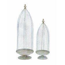 Victorian Church Steeple Standing Planter (Set of 2)