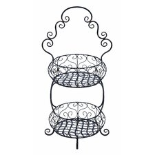 <strong>Woodland Imports</strong> 2 Tier Treat Basket Stand