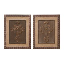 Wood Metal Decor (Set of 2)