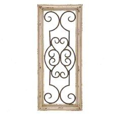Wood Metal Panel Wall Decor