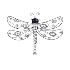 <strong>Woodland Imports</strong> Creative Dragonfly Wall Décor