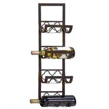 <strong>Woodland Imports</strong> 4 Bottle Wall Mounted Wine Rack