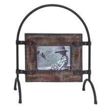 Wood Metal Picture Frame