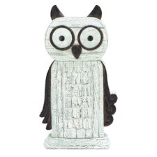 Whimsical Perching Owl Statue