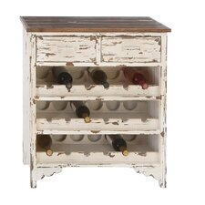 <strong>Woodland Imports</strong> Classic Wood Wine 2 Drawer Cabinet