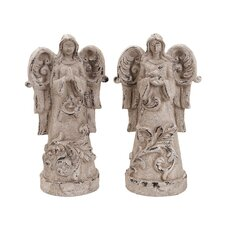 <strong>Woodland Imports</strong> Garden Angel Statue (Set of 2)