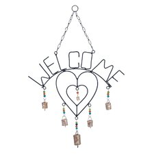 Twin Metal Welcome Wind Chime
