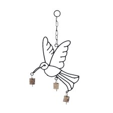<strong>Woodland Imports</strong> Metal Bird Wind Chime