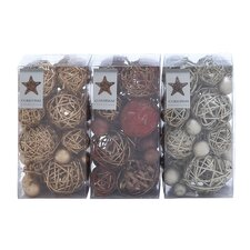 <strong>Woodland Imports</strong> Assorted Dried Ball (Set of 3)