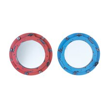 Porthole Wall Mirror (Set of 2)