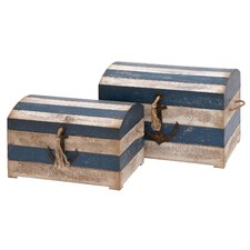 <strong>Woodland Imports</strong> Trunk (Set of 2)