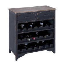 <strong>Woodland Imports</strong> 18 Bottle Wine Cabinet