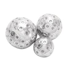 <strong>Woodland Imports</strong> Décor 3 Piece Contemporary Decorative Ball Set