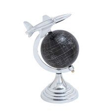 Aluminium Globe with Airplane Axis