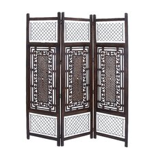 Elegant 3 Wood Panel Screen