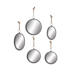 5 Piece Mirror in Round Shape Set