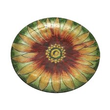 "13"" Charger Fine China Plate with Sunflower Design (Set of 12)"