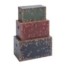 <strong>Woodland Imports</strong> Trunk (Set of 3)