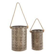 Metal Lanterns (Set of 2)