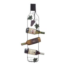 3 Bottle Wall Mount Wine Rack