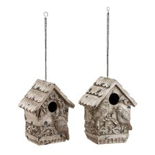 <strong>Woodland Imports</strong> Polystone Hanging Bird House (Set of 3)