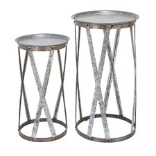 <strong>Woodland Imports</strong> 2 Piece Nesting Tables