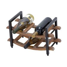 <strong>Woodland Imports</strong> 6 Bottle Tabletop Wine Rack