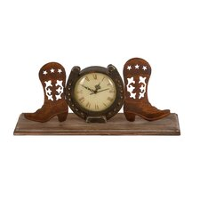 <strong>Woodland Imports</strong> Boot Clock with Unique Design