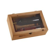 <strong>Woodland Imports</strong> Rectangular Wood Wine Box