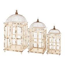 3 Piece Metal Assorted Decorative Bird Cage
