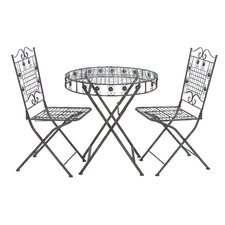 Foldable 3 Piece Bistro Set