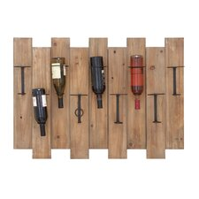 <strong>Woodland Imports</strong> 9 Bottle Wall Mount Wine Rack