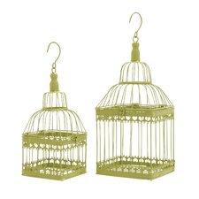 2 Piece Square Decorative Bird Cage