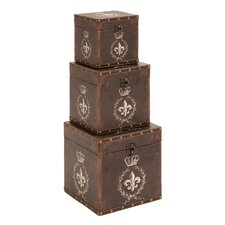 Charming Fleur-De-Lis Box (Set of 3)