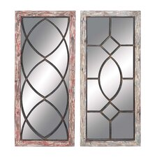<strong>Woodland Imports</strong> 2 Piece Mirror Wall Décor Set