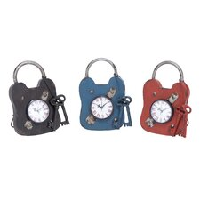 <strong>Woodland Imports</strong> Metal Clock (Set of 3)