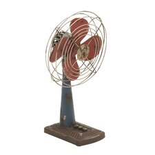 <strong>Woodland Imports</strong> Metal Decor Fan Statue