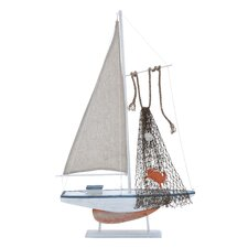 Wood Sailing Model Boat