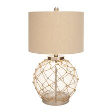 "Beautiful 28"" H Table Lamp with Drum Shade"
