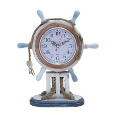 <strong>Woodland Imports</strong> Nautical Theme Wood Clock
