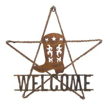 Welcome Sign with Boot Design