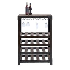 <strong>Woodland Imports</strong> 20 Bottle Wine Holder