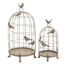 <strong>Woodland Imports</strong> 2 Piece Elegance and Grandiose Decorative Bird Cage